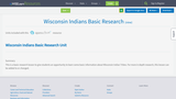 Wisconsin Indians Basic Research