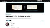 3 Ways to Get Expert Advice (Entrepreneurship)