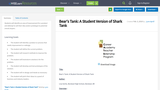 Bear's Tank: A Student Version of Shark Tank