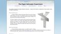 The Paper Helicopter Experiment