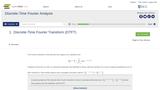 Discrete-Time Fourier Analysis