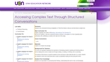 Accessing Complex Text Through Structured Conversations