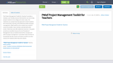 PMIef Project Management Toolkit for Teachers