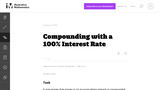 Compounding with a 100% Interest Rate