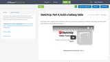 SketchUp: Part 4, build a hallway table