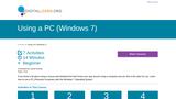 Using a PC (Windows 7)