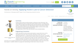 Applying Hooke's Law to Cancer Detection
