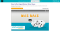 Code.org Intro to Algorithms: Dice Race #1
