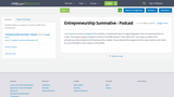 Entrepreneurship Summative - Podcast