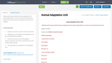 Animal Adaptation Unit