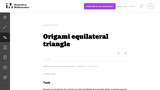 G-CO Origami equilateral triangle
