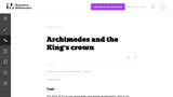 Archimedes and the King's Crown