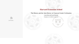 Harvard CLAS E-116: Lecture 21: Loose Hair and Social Disorder (video lecture)