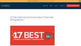 17 Top Internal Communication Channels [Infographic] · CMBell