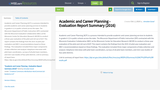 Academic and Career Planning - Evaluation  Report Summary (2016)