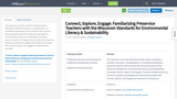 Connect, Explore, Engage: Familiarizing Preservice Teachers with the Wisconsin Standards for Environmental Literacy & Sustainability