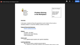 Problem-Solving in the Workplace CATE Lesson Plan