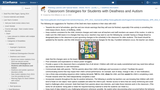 Classroom strategies for students with deaf and autism