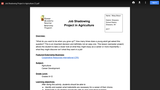 Job Shadowing Project in Agriculture CATE Lesson Plan