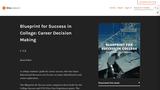 Career Decision Making – Blueprint for Success in College and Career