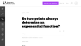 Do Two Points Always Determine an Exponential Function?