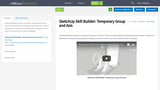 SketchUp Skill Builder: Temporary Group and Axis