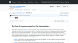 Python Programming for the Humanities -- A Python Course for the Humanities