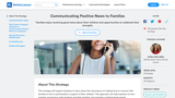 Communicating Positive News to Families