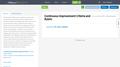 Continuous Improvement Process Criteria and Rubric