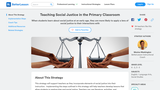 Teaching Social Justice in the Primary Classroom