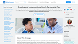 Creating and Implementing a Family Partnership Plan
