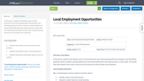 Local Employment Opportunities