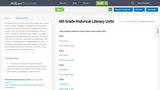 6th Grade Historical Literacy Units