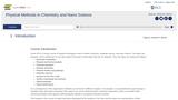Physical Methods in Inorganic and Nano Chemistry