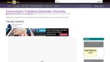 Conversions: Fractions-Decimals- Percents