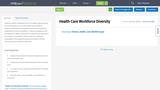 Health Care Workforce Diversity