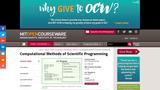 Computational Methods of Scientific Programming, Fall 2011