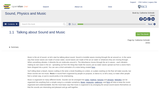Sound, Physics and Music