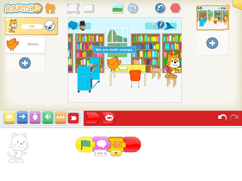 Compare and Contrast with Scratch Jr. (for K-2nd)