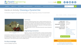 Choosing a Pyramid Site