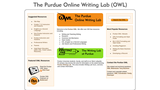 The Purdue Online Writing Lab (OWL)