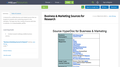 Business & Marketing Sources for Research