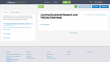 Community School Research and Policies (Overview)