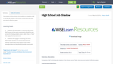 High School Job Shadow