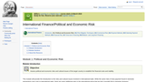 Module 1: Political and Economic Risk