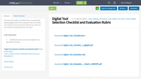 Digital Tool Selection Checklist and Evaluation Rubric