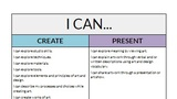 I CAN Statement - Art and Design 6th-8th Grade