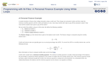 Programming with M-Files: A Personal Finance Example Using While Loops