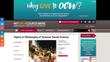Topics in Philosophy of Science: Social Science, Fall 2006
