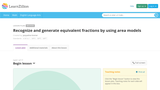 Recognize and Generate Equivalent Fractions by Using Area Models